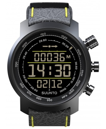 SUUNTO ELEMENTUM TERRA n/ black/yellow leather [SS019997000]